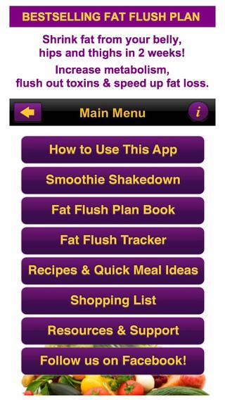 Fat Flush Diet Plan Meal Tracker Program: Menus Diary Recipes the Smoothie Shakedown Detox Diet for