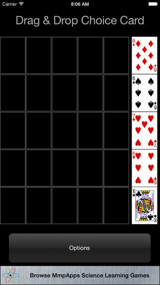 Poker Square Choice