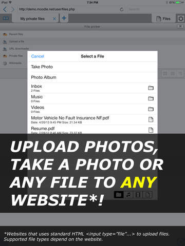 iUploader™ - Uploads files Screenshots