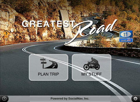 Greatest Road Motorcycle Rider GPS Road Finder iPad Screenshot 1