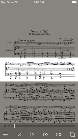 Brahms Violin Sonatas - SyncScore