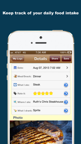 iFood Diary iPhone Screenshot 5
