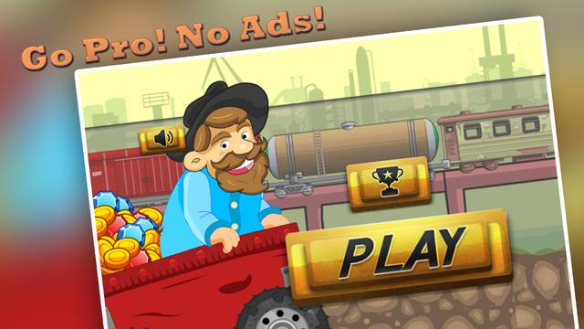 Speedy Gold Miner : Rail Rush Pro