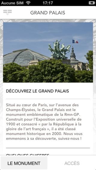 Grand Palais Paris application officielle