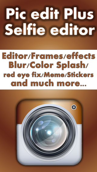 Pic editor plus Selfie effects maker - The ultimate photo editor plus art image effects frames stick