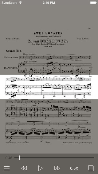 Beethoven Cello Sonatas - SyncScore