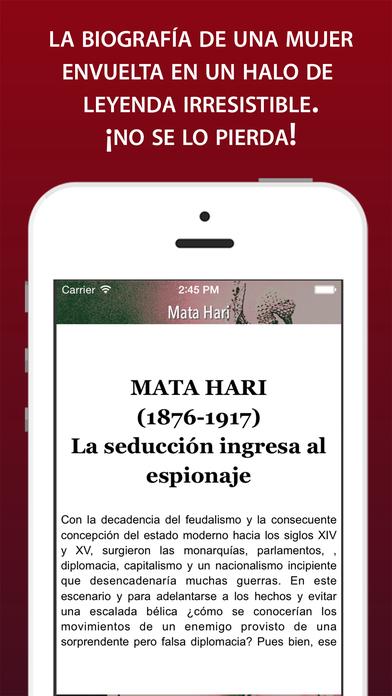 Audiolibro: Mata Hari iPhone Screenshot 2
