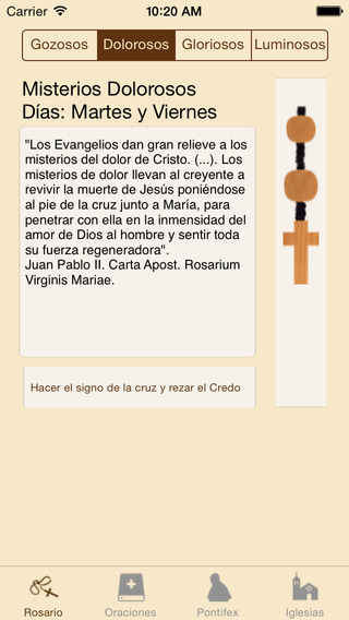 Santo Rosario Esp iPhone Screenshot 1