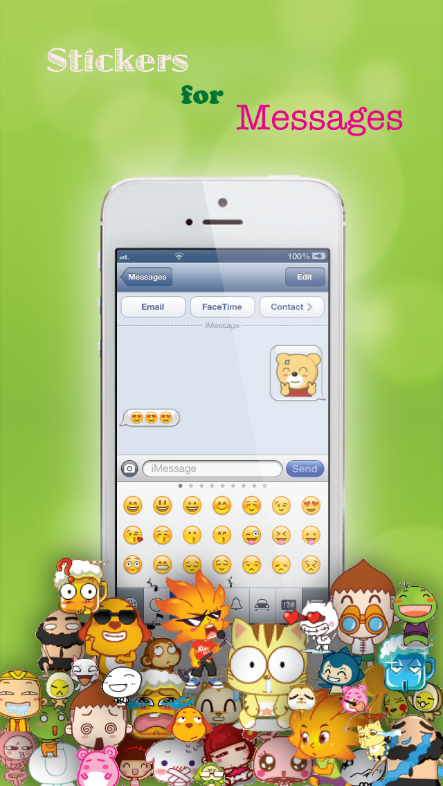 Screenshot for Stickers for Facebook Messenger, WeChat, Viber & WhatsApp...etc in Mexico App Store