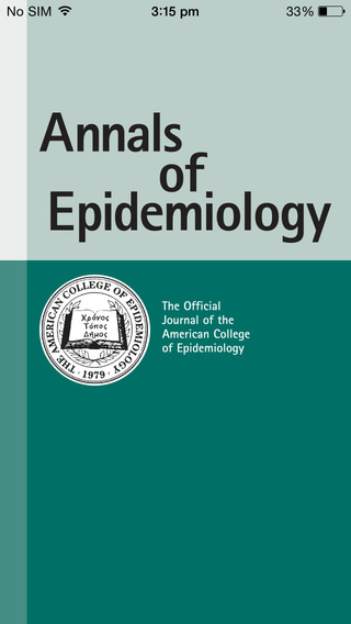 Annals of Epidemiology