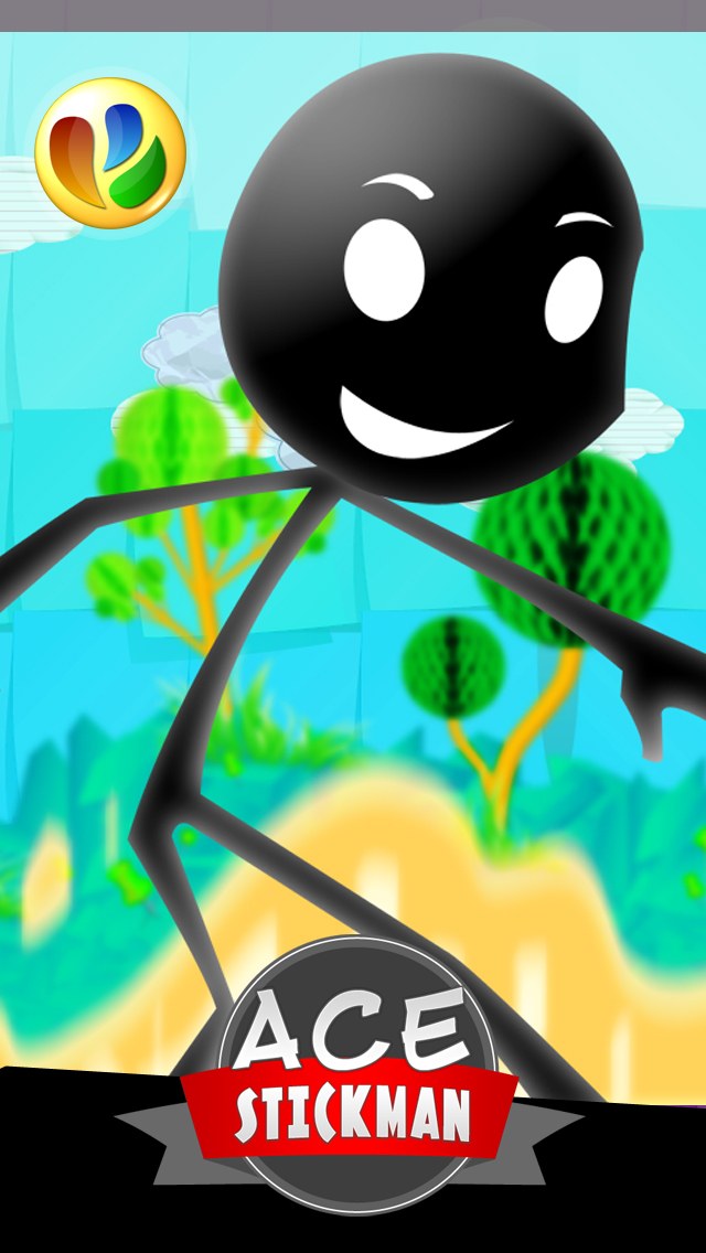 ace stickman jump and run game - 王牌火柴人跳和运行游戏
