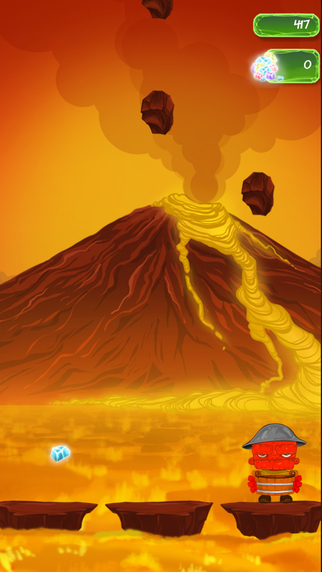 Volcanoid: Adventures Of A Lava Boy During Apocalipse Rush Runner