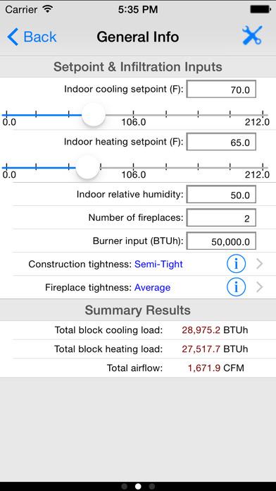 HVAC Load Plus iPhone Screenshot 4