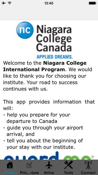 Niagara College Arrival