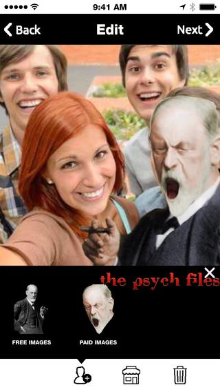 Freudie - Take a Selfie Photo with Sigmund Freud