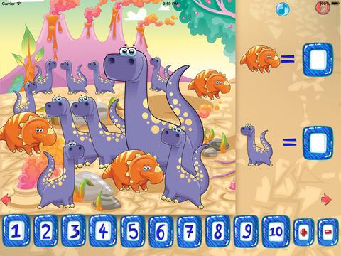 Динозавры - Математика для детей