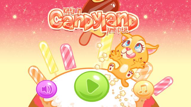 Kitty in Candyland Jump Tilt - Cute Jumping Cat Platform Crush Game