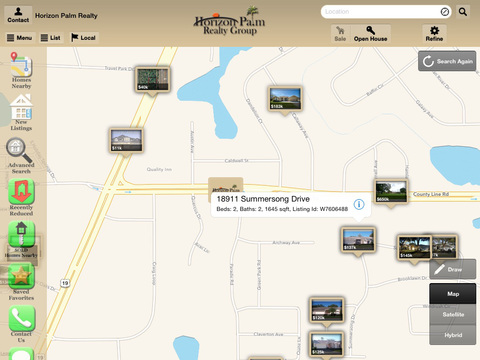 Horizon Palm Home Search for iPad