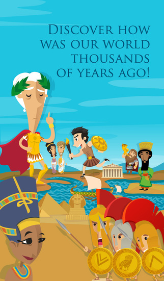 History Atlas for Kids – educational games to learn about ancient civilizations: Rome Greece and Egy