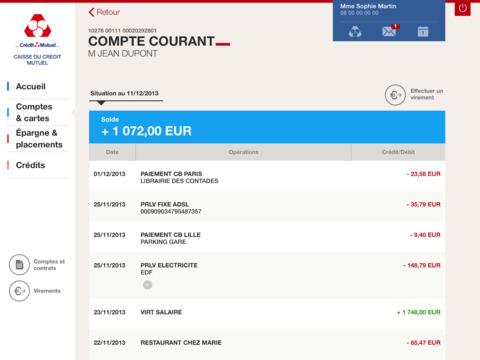 Crédit Mutuel pour iPad iPad Screenshot 3