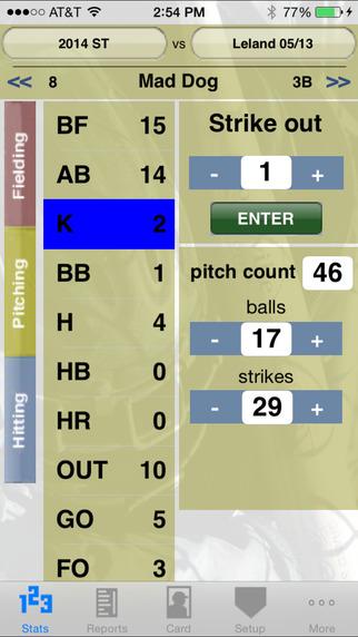 StatCatcher™ Baseball (Player Edition) iPhone Screenshot 2