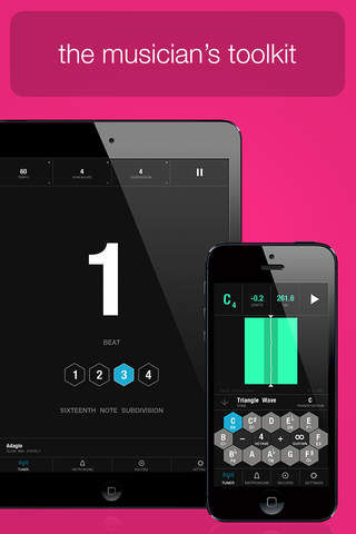 Tunable - Tuner & Metronome screenshot 1