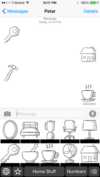 Home Stuff Stickers Keyboard: Using Icons to Describe Your home