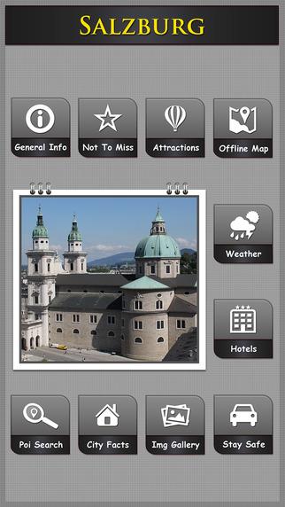 Salzburg Offline Map Travel Explorer