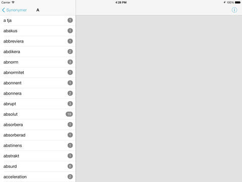 Synonymer iPad Screenshot 2