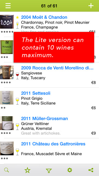Wines - wine notes Lite