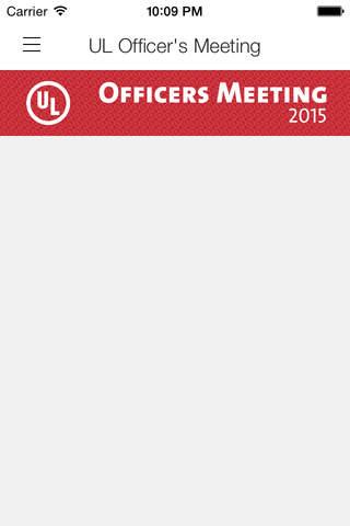 UL Officer's Meeting screen