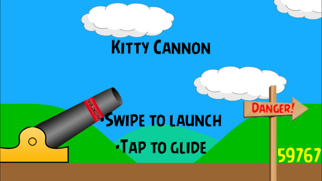 Kitty Cannon - Fun quick and simple game to shoot the cat flying through the air