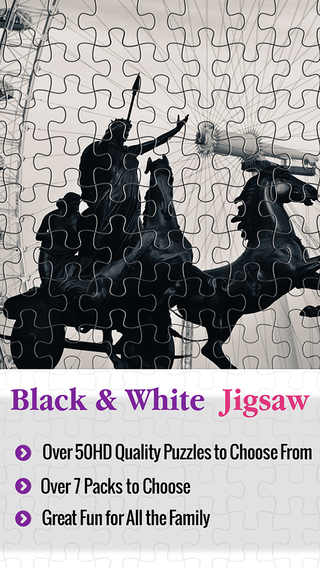 Black And White Jigsaw - Epic Puzzle Trivia Quest 4 Kids Family Fun