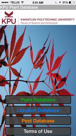 KPU Plant Database