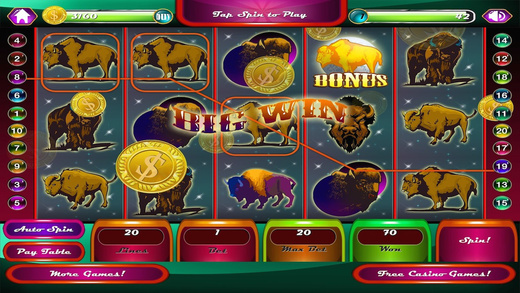 AAA Wild Buffalo Moon Casino Slot Game Pro
