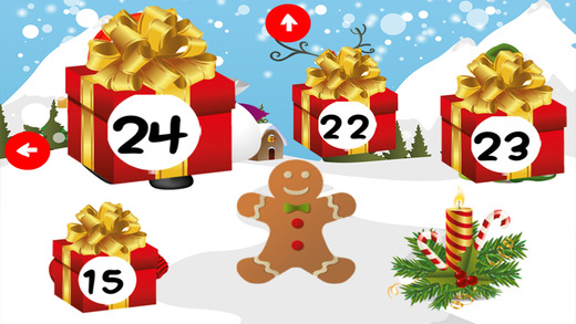 Advent calendar for Children for December and Christmas