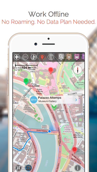 玩免費旅遊APP|下載Warsaw Map and Walks, Full Version app不用錢|硬是要APP