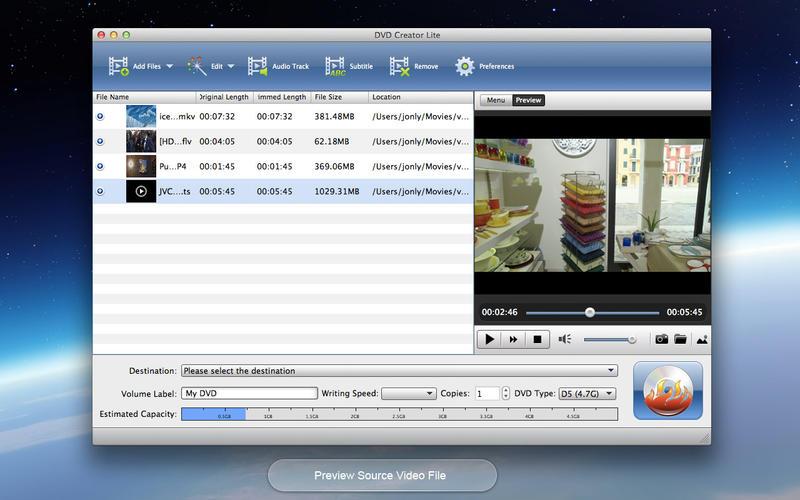 DVD Creator Lite Screenshot - 1