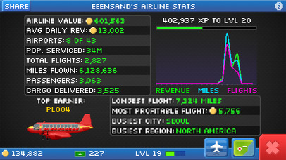 Screenshots of Pocket Planes - Free Airline Management Game for iPhone