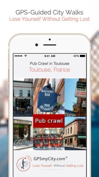 Pub Crawl in Toulouse (Lite Version) iPhone Screenshot 1