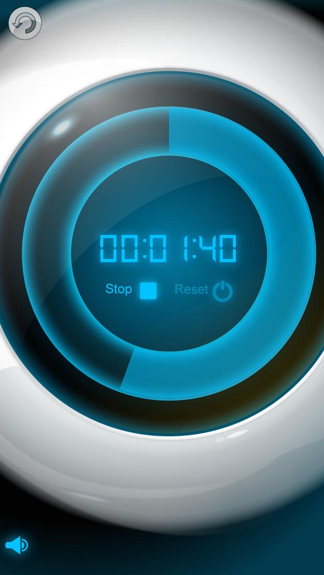 选择应用程序名称并配置计时器的报警,是否播放声音和是否在锁定屏幕