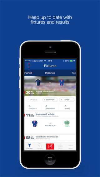 Inverness CT FC Fan App