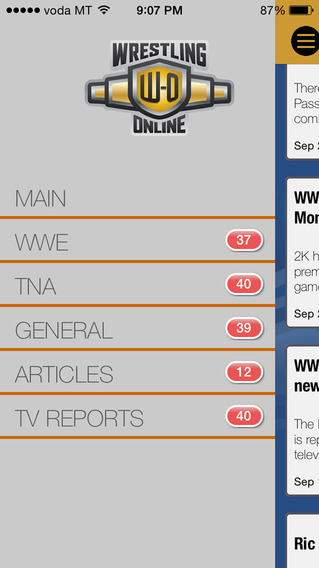 Wrestling-Online.com News iPhone Screenshot 5