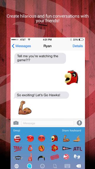 Atlanta Hawks Emoji Keyboard