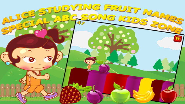 Alice Studying Fruit Names - Special ABC Song Kids Zone Pro