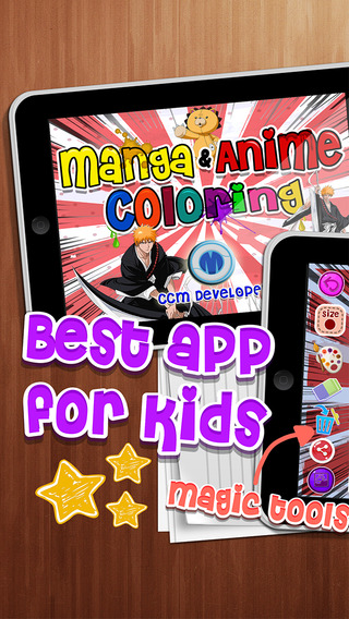 Coloring Anime Manga Book : Collection Japanese Cartoon on Bleach For Kids