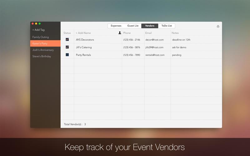 Event Planner Screenshot - 3
