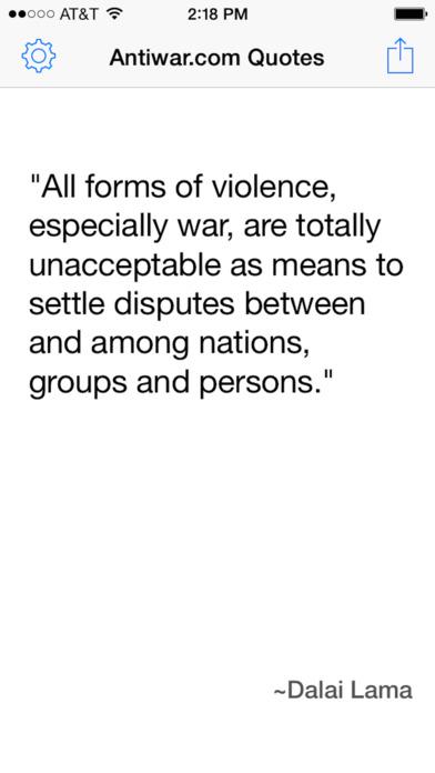Antiwar.com Quotes iPhone Screenshot 1