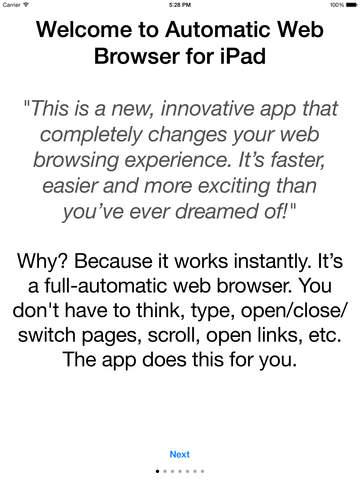 玩免費工具APP|下載Automatic Web Browser for iPad app不用錢|硬是要APP