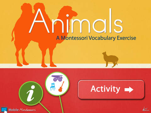 Montessori Approach To Vocabulary HD - Animals iPad Screenshot 1